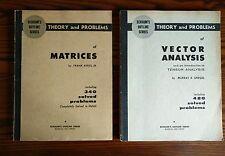 SCHAUM●Spiegel/Ayres➔VECTOR ANALYSIS+MATRICES [analisi|vettoriale|matematica]
