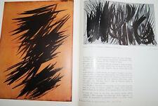 HANS HARTUNG RENE DE SOLIER QUADRUM EXPOSITION NOVEMBRE DECEMBRE 1956 ILLUSTRE