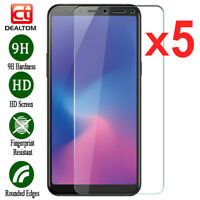 5Pcs Tempered Glass Screen Protector For Samsung Galaxy A6 A7 A8 Plus A9 2018 US