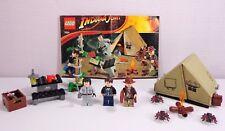 Lego Indiana Jones Set 7624 Jungle Duel Complete with 3 Minifigures