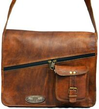 Genuine Vintage GVB Leather Messenger Laptop Briefcase Satchel Women Men Bag