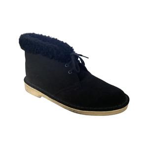 BNIB Clarks Originals Ladies Black Suede Warm Lined Desert Boots
