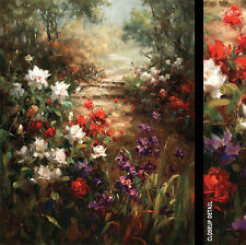"""24W""""x30H"""" COLORS OF SPRING by VERA OXLEY GORGEOUS FLORAL PATHWAY FOREST CANVAS"""