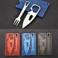 New 2X Outdoor Multifunctional Travel Survival Camping Tool Card Knife Fork Sets