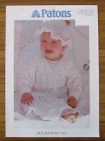 PATONS KNITTING - 5299 LACE & FLOWER BORDER CARDIGAN GIRL BABY 0mths - 7yrs