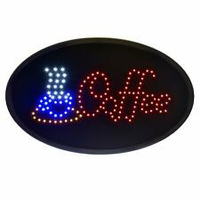 Alpine Industries Multi-Color Led 19 x 10 Business Shop Cafe Hanging Coffee Sign