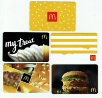McDonalds Gift Card LOT of 5 - Burger, Big Mac, Soft Serve, Stripes - No Value