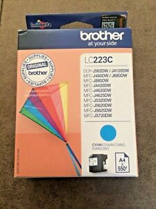 Original Brother LC223C Cyan Printer Inkjet Cartridge