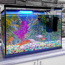 More details for 26l glass aquarium fish tank starter kit set air filter pump net stone led light