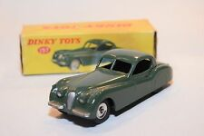 DINKY TOYS 157 JAGUAR XK120 XK 120 COUPE DARK GREEN SPUN HUBS VN MINT BOXED