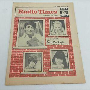 Vintage Radio Times Magazine July 27th, 1967 [G+] Derek Nimmo | The Munsters