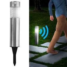 Lampada Giardino Ricarica Solare con Sensore Movimento Paletti Luce LED 39x6cm