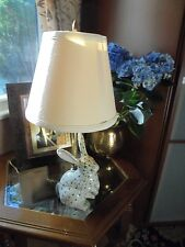 ANDREA BY SADEK, FISHNET CHINA, PORCELAIN LAMP, BUNNY, Collectible Vintage