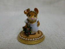 Wee Forest Folk A Little Christmas Spirit Special Edition M-287a Retired Purple