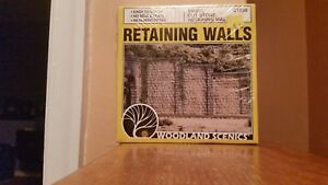 Woodland Scenics 3 Cut Stone Retaining Walls, HO Scale (1:87), # C1259-NIB
