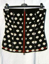 Corsage schwarz weiß Punkte N2 MARC CAIN Zipper rot 36 SEXY  Bustier EFFEKTVOLL
