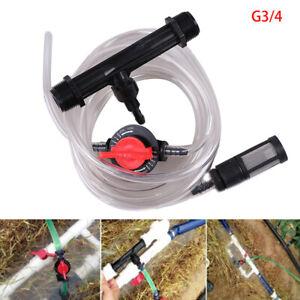 1set 3/4 Irrigation Venturi Automatic fertilizer injector Fertilizer Syringe^dm
