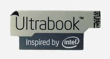 Ultrabook Inspired By Intel Gray Edition Sticker 16.5 x 38mm Badge Logo