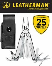 Genuine Leatherman Wave Stainless Steel Multi-Tool With Leather Sheath 25 Yr Wty