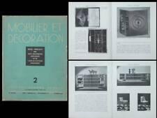 MOBILIER ET DECORATION N°2 1938 LEON JALLOT, RELIURE, BONET KIEFFER BONFILS