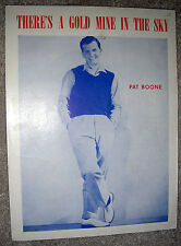1950s THERE'S A GOLD MINE IN THE SKY Vintage Sheet Music PAT BOONE by Kenny