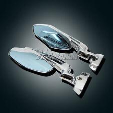 Motorcycle Chrome Rearview Mirrors For Suzuki GSXR 600 750 1000 Hayabusa 1300