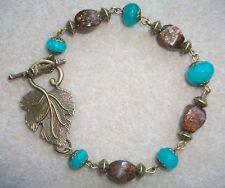 Blue Quartz and  Bronzite Gemstone Bracelet
