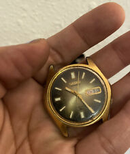 vintage seiko automatic 17 jewels gold tone watch as is