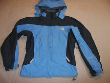 NORTH FACE VARIUS GUIDE JACKET SKI SNOW SKIRT HOOD HYVENT VENTS BLUE WOMEN'S XS