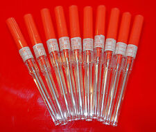 10 x 14 gauge Catheter Body Piercing Needles Sterilised 10 Medi Swabs 14gauge