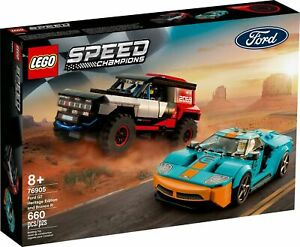 LEGO 76905 Speed Champions Ford GT Heritage Edition and Bronco R (Brand New)