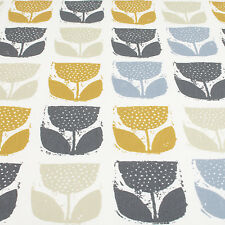 Made to Measure Roman Blind John Lewis Tulips Fabric in Saffron Size Upto 50""