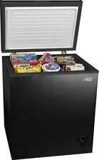 MINI CHEST FREEZER 5 Cu Ft Energy Efficient Compact Ice Frozen Food Black Fridge