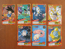 Lotto 7 cartoline dragon ball GT power level carddass