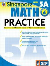 Singapore Math Practice Level 5A Grade 6 NEW Homeschool Curriculum SAP
