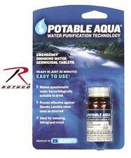 Portable Aqua  Emergency Water Purification Tablets US MADE Rothco 7740