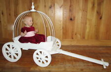 Small Angel Carriage in Gloss White or Ivory , for Babes & Toddlers
