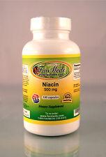 Niacin No flush 500mg - 100 tablets, cholesterol aid, high quality. Made in USA.