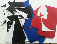 Waterproof Sticky Backed Dacron Material Random Shapes great for collage 250grms