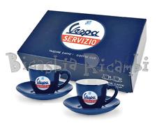 3673 - SET 2 TAZZINE DA CAFFE IN CERAMICA BLU VESPA SERVIZIO