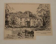 1892 magazine engraving ~ BIRTHPLACE OF TENNYSON, Somersby UK