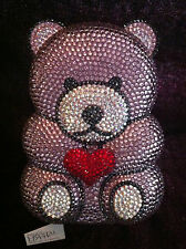 NIB Crystal Evening Bag Clutch Hand Bag Teddy Bear made with swarovski elements