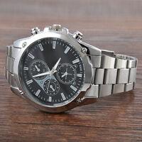 Men's Date Fashion Luxury Army Sport Stainless Steel Quartz Analog Wrist Watch
