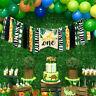 Banner Jungle Safari Canvas Animals Zoo Decor Happy Birthday Party Balloons