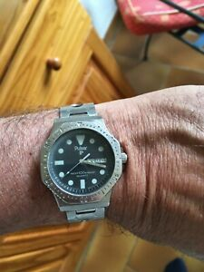 Montre Pulsar vintage bracelet inox rallye