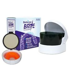 Retainer Brite, Sonic Cleaner & Case ~ Cleaning Tablet Retainer Case with Mirror