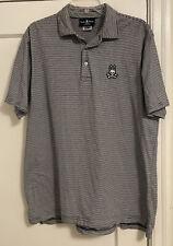 Psycho Bunny Big Bunny Striped S/S Logo Polo Shirt Men's Sz 8 Us Xxl!