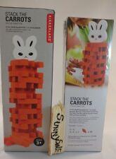 STACK the Orange CARROTS Bunny Rabbit KIKKERLAND GAME carrot wooden blocks wood