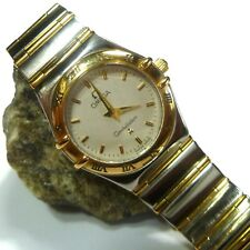 OMEGA CONSTELLATION WOMEN'S WATCH STAINLESS STEEL / 18 ct Gold Sapphire Glass