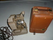 VINTAGE PROJECTOR REVERE 85 8MM HOME MOVIE WORKING HARD CASE POWER CORD CAMERA >